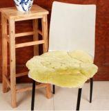 Fashion Ladies Sheepskin Seat Pad with Beautiful Flower Design