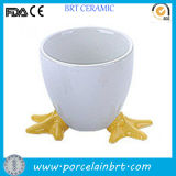 Cute Chicken Feet Ceramic Egg Stand