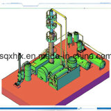 Continuous Tyre Oil Distillation Machinery 15ton