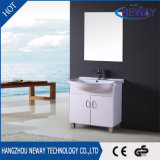 Modern Design Small Size PVC Floor Stand Mirror Cabinet Bathroom