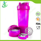 450ml Shaker Bottle with Ss Ball and Containers