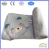 100% Cotton Cartoon Image Embroidery Baby Blanket