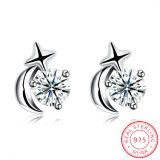925 Sterling Silver Beautiful Ear Stud Design Earring for Young Girl