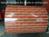 Red Brick 3D Color Coated Aluminum Zinc Steel Coil PPGL