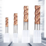 CNC Milling Cutter Integral Carbide End Mill Cutter with Tisin Coating
