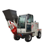 Self Loading Concrete Mixer Truck, Cement Mixer Truck with Front Loader