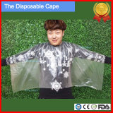 Salon Disposable Haircut Cape, PE Hairdressing Cape