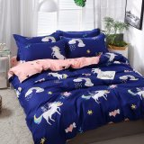 New Design Unicorn Print Collection Cheap Price Bedding Set Home Textile