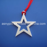 Merry Christmas Decoration Ornament Cut out Personalized Silver Five Star Design Gifts