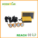 Set of 4 Solar LED Bulbs Home Solar Power System with Mobile Phone Charger