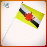 Cheap Custom Election Event Hand Flags with Plastic Pole (HYHF-AF032)