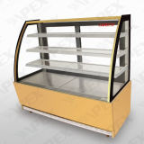 Elegant Curved Glass Door with 3 Shelf Cake Showcase for Cake and Snack in Bakery Shop