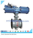 Pneumatic Operated Double Eccentric C Type Semi Ball Valve