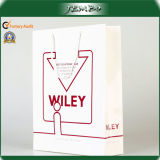 Custom Design Quality White Coated Paper Shopping Bag