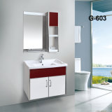 Unpainting PVC Bathroom Furniture Bathroom Vanity Cabinet with Side Carbinet
