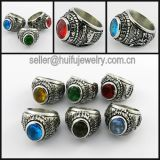 Popular Metal Man Sports Championship Rings with Gemstone