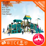 Standards Outdoor Playground Equipment Plastic Slides for Children