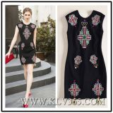 fashion Ladies Summer Sleeveless Beaded Dress