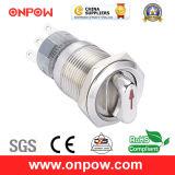 Onpow 19mm Metal Selector Switch (LAS1-AGQ-11X/21/R/12V/S, UL, CE, CCC, RoHS, REECH)