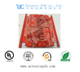 Red Solder Mask PCB Circuit Board with 8 Layer
