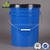 20L Blue Plastic Lube Bucket Pail with Black Lid with Spout