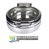 Small Round Chafing Dish with Buffet Frame for Induction or Electric