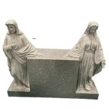 on Sale Gray Granite Hand Carving Stone Jesus and Mary
