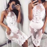 2020 Sleeveless Summer Camisole Pleated Sexy Halter Women Clothing Two Piece Suit Fashion Bandage Dress