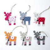 China Wholesale Cheap Christmas Home Decor Wooden Elk Decoration