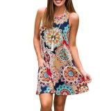 Beauty Female Sleeveless Retro Wear Cheap Dress