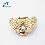 Fancy Gold Butterfly Design Metal Lock Bag Accessories