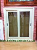 Horizontal Cheap PVC Sliding Colored Glass Window for Sale