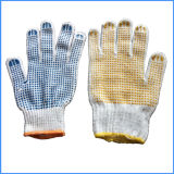 Good Price Cotton Gloves with Rubber Dimples