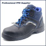Black Genuine Leather PU Injection Steel Toe Cap Waterproof Industrial Men′s Safety Footwear for Work