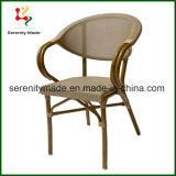 Hand-Made Rattan Wicker Furniture Lounge Indoor/Outdoor Chair with Bamboo-Aluminium Frame
