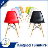 Cheap Wooden Leg Chair Plastic PP ABS Colorful Dining Chair Eames DSW DAR Chair