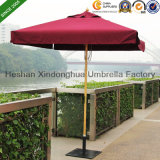 2m Square Wooden Teak Garden Umbrella for Outdoor Furniture (WU-S42020)