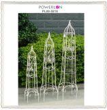 Outdoor Antirust Elegant Vitage White Metal Garden Obelisk