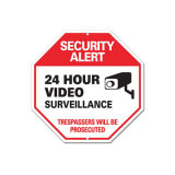 Wholesale Price PVC Security Camera Warning Sign