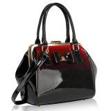Fashionable Metal Frame Women Lady Handbag Two-Tone Color Bag