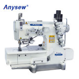 High Speed Direct Drive Flat Bed Interlock Sewing Machine with Auto-Trimmer (AS562DD-01CB-UT)