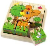 Screen Printing Wood Cartoon Children Puzzles