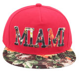 Sublimation Printing on Embroidery Logo for Snapback Cap