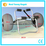 Kayak Accessories, Boat Canoe Trolley, Beach Trolley Cart with Balloon Wheel