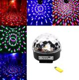 220V 110V 5V 3W Mini LED Mirco USB RGB Magic Ball Music Sound Control KTV DJ Disco Stage Lamp Effect Projection Project Light