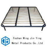 Black Aspen Wood Iron Bed Frame Used for Bedroom Furniture (A019)