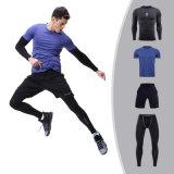 Winter Men's Fitness Wear Running Clothes High-Elastic Gym 4PCS/Set Sportswear