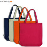 Plain Color Grocery 100% Fabric Shopping Cotton Bag for Ladies