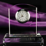 2017 New Design Crystal Glass Clock