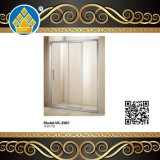 Tempered Glass Frameless Aluminum Alloy Pivot Shower Screen for Bathroom Enclosure